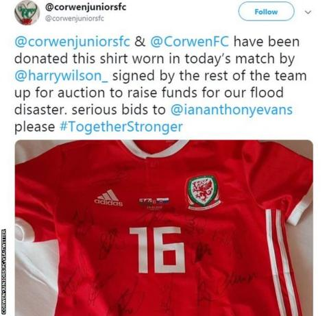 Corwen Juniors and Corwen FC are fundraising to repair flood damage