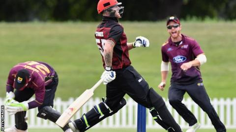 ben stokes is run out for canterbury against northern districts