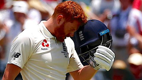 Jonny Bairstow celebrates his hundred