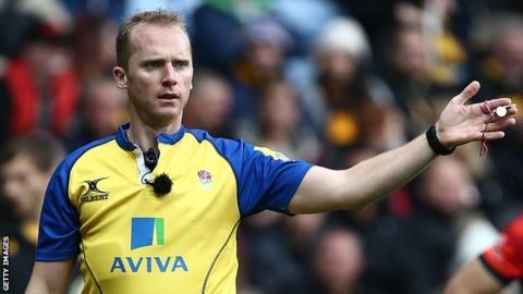 Referee Wayne Barnes