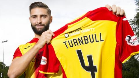 Partick Thistle signing Jordan Turnbull