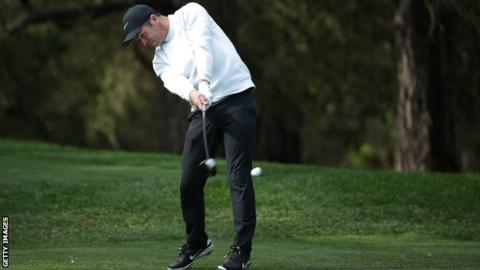 Paul Casey in third-round action at the AT&T Pebble Beach Pro-Am