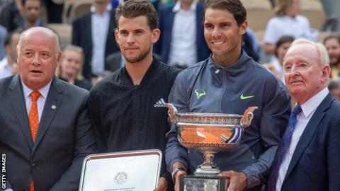Dominic Thiem and Rafael Nadal