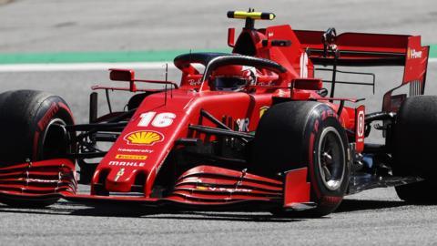 Charles Leclerc in the Ferrari at the Austrian Grand Prix