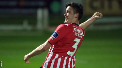 Dean Jarvis scored Derry City's winning goal in the first period of extra-time
