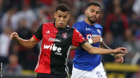 Former Manchester United midfielder Ravel Morrison playing for Mexican side Atlas