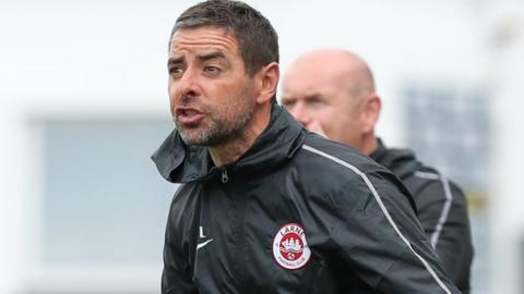 Tiernan Lynch: Larne manager insists patience is key at promoted club