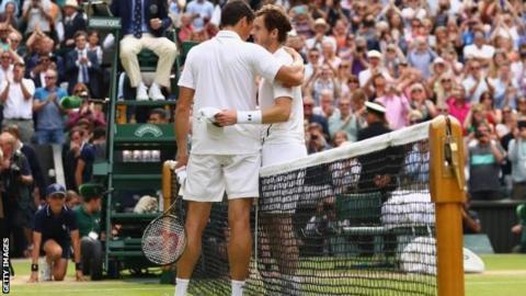 Milos Raonic and Andy Murray