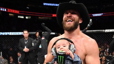 Donald Cerrone with his son Dacson Danger Cerrone