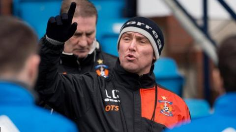 Lee Clark takes Kilmarnock training