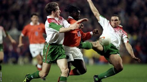 Vinnie Jones captained Wales on an evening to forget in Eindhoven in 1996 when Bobby Gould's side lost 7-1 to the Netherlands in a World Cup qualifier.