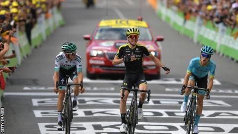 Tour de France: Simon Yates claims maiden stage win