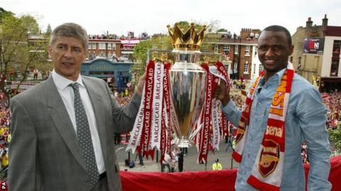 Arsene Wenger (left) and Patrick Vieira