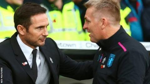 Frank Lampard won when he met Dean Smith's Brentford seven weeks ago 3-1, but the Villa boss got the upper hand on Saturday