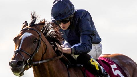 Ryan Moore rode Flag of Honour to victory at the Curragh