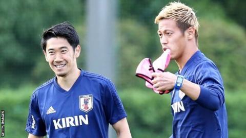 Shinji Kagawa (left) and Keisuke Honda
