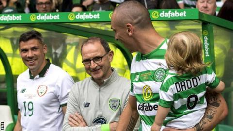 Martin O'Neill next to Scott Brown