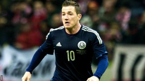 Ross McCormack in action for Scotland in a friendly against Poland in March 2014