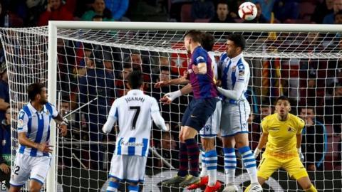 Clement Lenglet scores for Barcelona
