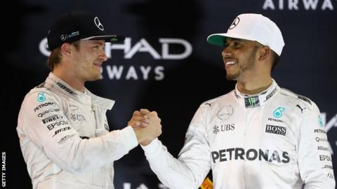 Nico Rosberg (left) and Lewis Hamilton