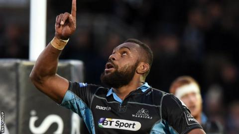 Leone Nakarawa ran in three of Glasgow's tries