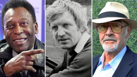 Pele, Alan Durban and Sean Connery