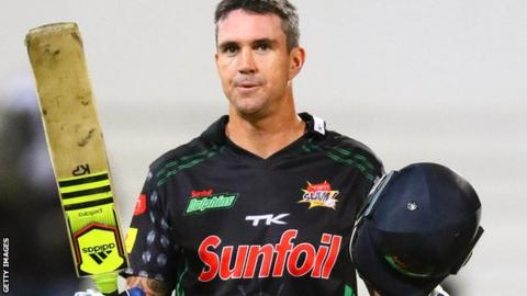 Kevin Pietersen in action for the Dolphins