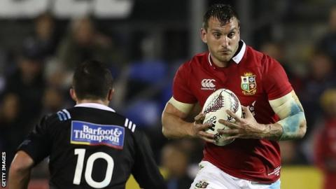 Sam Warburton in action for the Lions against the Provincial Barbarians