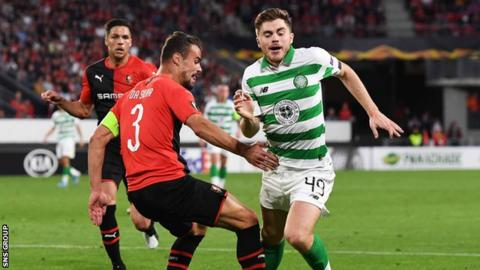James Forrest won the penalty which Ryan Christie converted