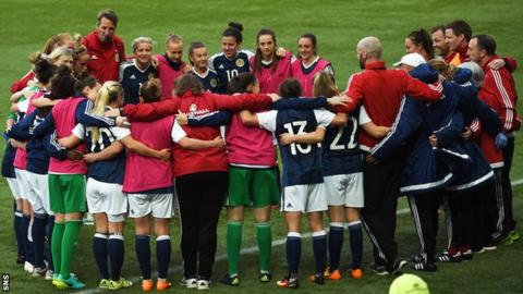 The Scotland team following the win over Romania