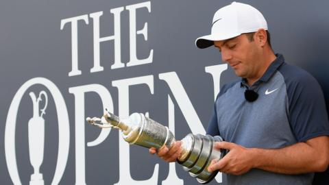 Francesco Molinari with Claret Jug