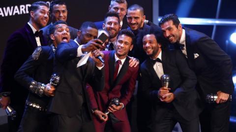 Idris Elba and world XI