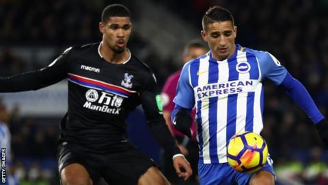 Crystal Palace and Brighton played out a goalless draw in the Premier League on 27 November