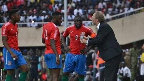 The Gambia coach Tom Saintfiet
