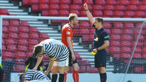 Clyde's Michael Bolochoweckyj is sent off