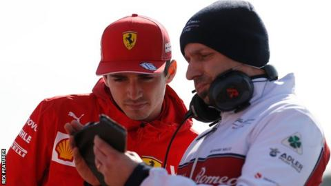 Charles Leclerc and Simone Resta