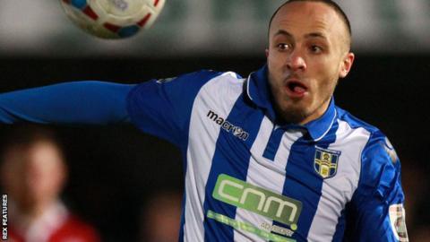 Elliott Buchanan in action for former club Bishop's Stortford