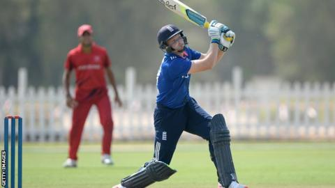 Jos Buttler bats against Hong Kong