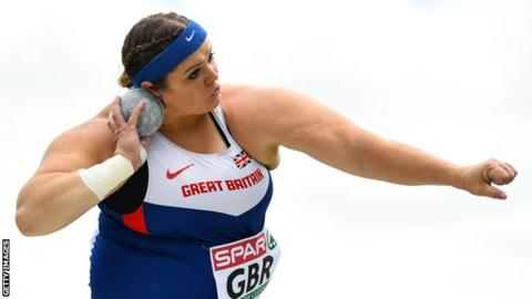 Shot-putter Amelia Strickler