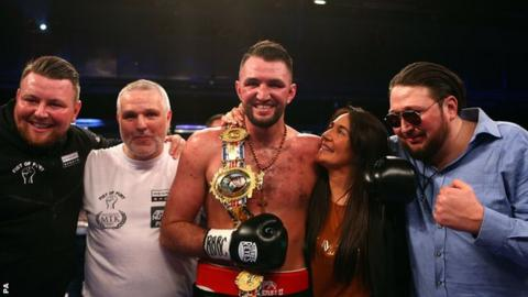 Hughie Fury after beating Sam Sexton