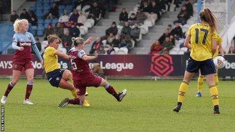 Katie McCabe fired Arsenal ahead after just 15 minutes at West Ham