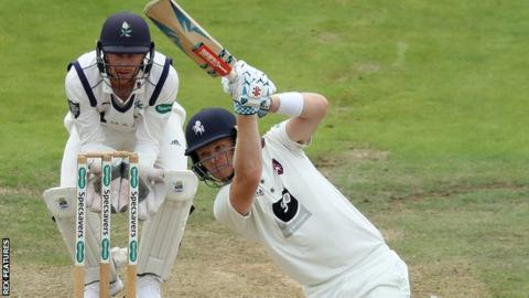 Sam Billings on his way to his second century against Yorkshire