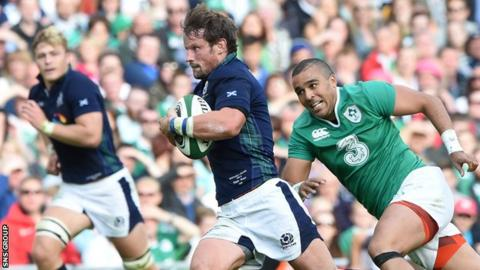 Peter Horne scored a try and turned in an eye-catching performance for Scotland