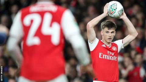 Kieran Tierney made his Arsenal debut against Nottingham Forest last week