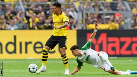 Jadon Sancho: Borussia Dortmund's England winger agrees new £190k-a-week contract
