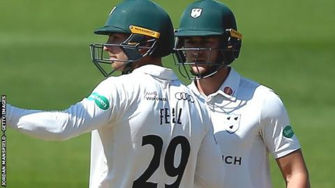 Tom Fell hit his highest Championship since September 2015, while Joe Clarke went on to make his first century of the summer