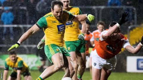Michael Murphy strikes Donegal's crucial goal in Saturday's win over Armagh