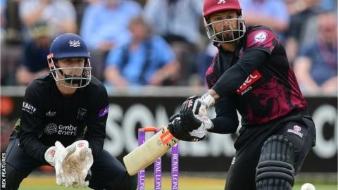 Peter Trego was top scorer for Somerset in their innings of 211