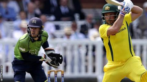 Robbie White in action for Middlesex against Australia