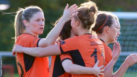 Leanne Ross (left) scored twice as Glasgow City defeated Celtic 3-0